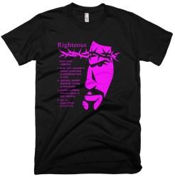 'Definition of Righteous' Tee Black/Fuschia